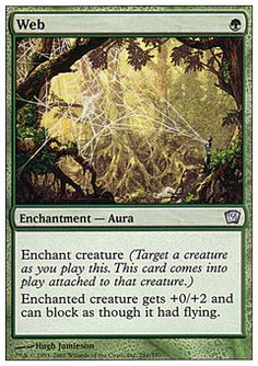 Web - Enchantment - Aura - Tree - Green - 9TH Edition - Magic The Gathering Trading Card