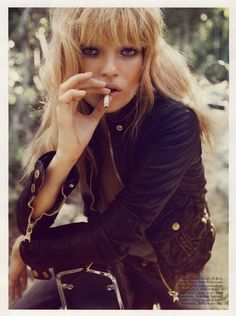 """Kate Moss in the April 2008 French Vogue- Sur La Route """"On the Road,"""" styled by Emmanuelle Alt, photographed by Inez and Vinoodh #katemoss"""