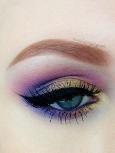 Purple and gold #eyes #eye #makeup #eyeshadow #bright #bold #dramatic