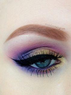 Purple and gold #eyes #eye #makeup #eyeshadow #bright #bold #dramatic