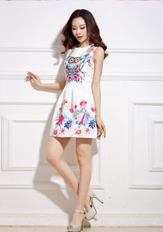 Organza Dress DS3993 White