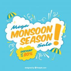 Monsoon sale composition with flat design Free Vector Ad Design, Flyer Design, Layout Design, Design Ideas, Japan Advertising, Instagram Design, Sale Banner, Sale Poster, Cool Posters