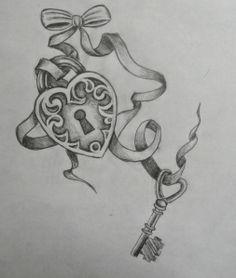 Lock & Key tattoo design