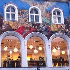 Pin by siga on street art Visit Austria, Salzburg Austria, Central Europe, Alps, Adventure Travel, Travel Inspiration, Art Nouveau, Places To Go, Europe