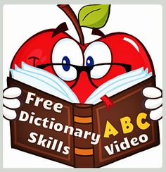 Free video lesson to teach children dictionary skills. Dictionary Activities, Dictionary Skills, Language Dictionary, Free Dictionary, 2nd Grade Ela, 2nd Grade Reading, Second Grade, Library Skills, Library Lessons