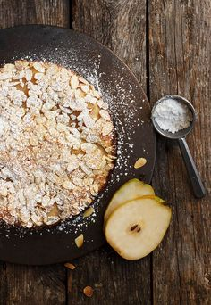 Italian Pear Almond Cake - full of pears and lightly sweet, it's perfect to enjoy any time of the day!