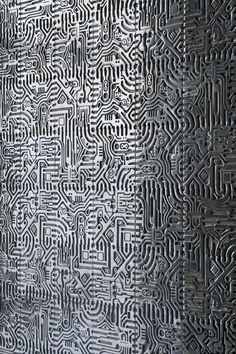 """My kind of wallpaper. Floor Design, Ceiling Design, Wall Design, Anton, Concrete Art, Metal Panels, Metal Facade, Mid Century Decor, Of Wallpaper"