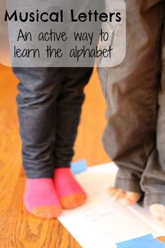 Playing a game of musical letters is a fun and active way to learn letters.