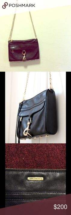 Rebecca Minkoff MAC Crossybody (full size not mini Black Rebecca Minkoff MAC Crossbody with gold hardware in great condition. I've only worn it a few times, selling because I never use. I have extra fringe cords that came with the bag! (Negotiable price) :) Rebecca Minkoff Bags Crossbody Bags