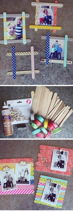 ▷ 1001 + Images for DIY Father's Day Gift Ideas including seven tutorials - Foto im Bilderrahmen, Fotogeschenk Vatertag Ideen zum Basteln mit Kindern, DIY, selbst gemacht auch - Kids Crafts, Craft Stick Crafts, Diy And Crafts, Diy Father's Day Gifts, Father's Day Diy, Fathers Day Gifts, Parent Gifts, Diy Y Manualidades, Diy For Kids
