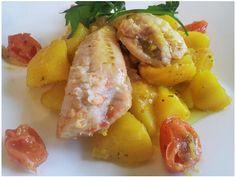 Gallinella di mare con patate allo zafferano