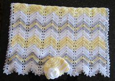 baby girl gift set crochet baby blanket and hat gift set image 4 Crochet Ripple, Crochet Quilt, Afghan Crochet Patterns, Baby Knitting Patterns, Baby Girl Crochet Blanket, Chevron Baby Blankets, Crochet Baby, Baby Girl Gift Sets, Crib Blanket
