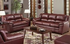 burgundy leather couch - Google Search