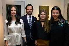 Carl Philip and Sofia attended the podcast launch reception