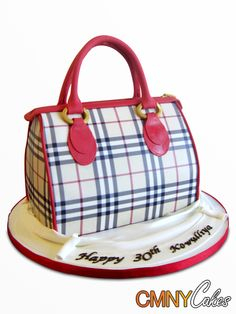 fashion purse handbag cakes | burberry purse cake this burberry style purse includes a perfectly ...