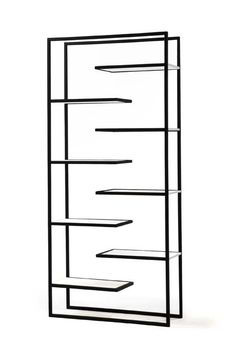 SCALA bookcase by Faktura. Each shelf functions as a book support for the next in this creative piece. $1200