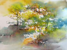 Karlyn Holman-Watercolor paintings, classes and Karlyn's Gallery in Washburn Wisconsin. Watercolor Trees, Watercolor Artists, Watercolor Landscape, Watercolor And Ink, Watercolour Painting, Landscape Paintings, Watercolors, Watercolor Tutorials, Tree Illustration