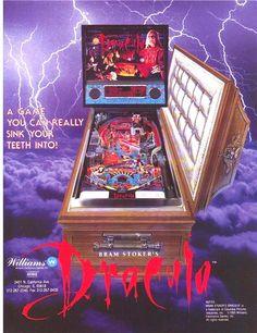 HALLOWEEN SALE..Williams Dracula Original NOS Pinball Machine Promo Sales Flyer #WilliamsPinball #PinballFlyer #Horror #Halloween #BramStokersDracula