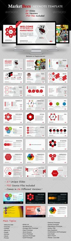 Marketbees Keynote Template - GraphicRiver Item for Sale