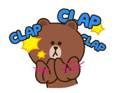 Friends Gif, Line Friends, Cony Brown, Cute Love Cartoons, Hello Kitty Wallpaper, Getting Back Together, Sanrio Hello Kitty, Line Sticker, Cute Gif