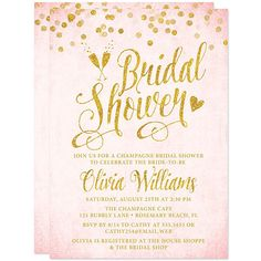 Printable Blush Pink & Gold Bridal Shower by TheSpottedOlive