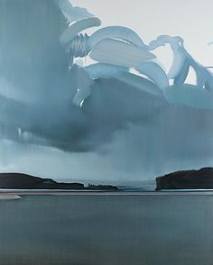 Julian Meagher Inlet 2018 oil on linen . oil landscape 152 x Abstract Landscape Painting, Seascape Paintings, Watercolor Landscape, Landscape Art, Landscape Paintings, Contemporary Landscape, Contemporary Paintings, Guache, Sky And Clouds