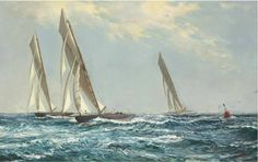 'Yachts Racing up the Clyde', by Montague Dawson.