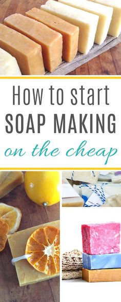 How to Make Soap on a tight budget - great tips for getting started soap making without spending much at all! How to start making soap when you're on a tight budget Handmade Soap Recipes, Soap Making Recipes, Handmade Soaps, Diy Soaps, Homemade Beauty, Diy Beauty, Beauty Care, Sweet 16, Soap Colorants