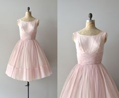 vintage 50s dress / chiffon 1950s dress / Candy by DearGolden, $214.00 Very pretty for bridesmaids.