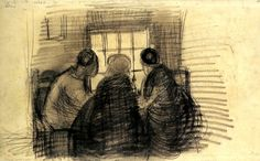 Three People Sharing a Meal by @artistvangogh #realism
