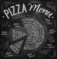 Menu Pizza n zvy j del Pizza havajsk s r ku ec maso feferonky a dal mi slo kami raj e bazalka olivov Reklamní fotografie