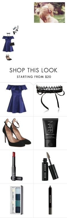 """""""N"""" by sthephanie-matos ❤ liked on Polyvore featuring Topshop, Fallon, Valentino, NARS Cosmetics, Bobbi Brown Cosmetics, Clinique and MICHAEL Michael Kors"""