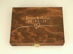 Ring Bearer Box Custom Ring box Carved by DomesticatedEngineer