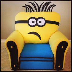 Minion Kid Chair from EspeciallyForKids on Etsy. Minion Movie, My Minion, Minion Stuff, Minion Bedroom, Kids Sofa, Minion Pictures, Selling Furniture, Furniture Websites, Bedroom Themes