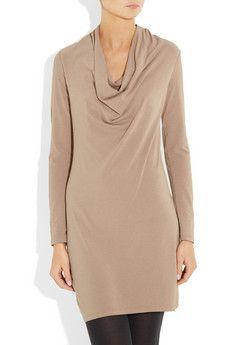 splendid cowl neck stretch jersey dress $110