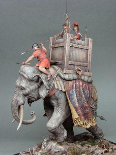 Roman war elephant by Julia Moshura · Putty&Paint War Elephant, Elephant Gifts, Roman Soldiers, Toy Soldiers, Sculpture Art, Sculptures, Punic Wars, Elephant Home Decor, Landsknecht