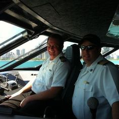 Our Captain & First Mate Cruising