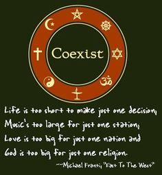 Coexist.