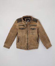 Look at this #zulilyfind! Khaki Distressed Jacket - Boys #zulilyfinds