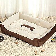 dometool large dog soft sofa bed indoor pet basket nesting cat cosy inside cushion with fleece