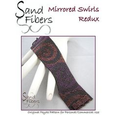 Peyote Pattern  Mirrored Swirls Redux Peyote Cuff / by SandFibers