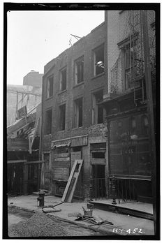 When a Lower East Side block was demolished as part of slum clearance, it was discovered that 29-29½ Cherry Street was the oldest house standing in Manhattan.