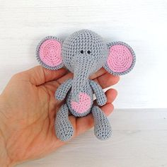 Handmade Christmas Gifts Stuffed Animal Elephant, Soft toy, Cotton Yarn *** Be sure to check out this awesome product.