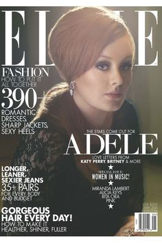 Adele covers Elle Magazine, May 2013.