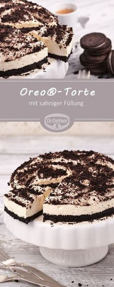 cake - For all Oreo® fans a delicious combination of crispy . - Desserts -Oreo® cake - For all Oreo® fans a delicious combination of crispy . Cupcake Recipes, Pie Recipes, Baking Recipes, Cookie Recipes, Dessert Recipes, Delicious Desserts, Torte Cake, Oreos, Oreo Desserts