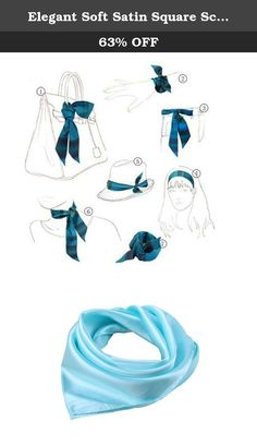 Elegant Soft Satin Square Scarf Bandana Solid Color For Women(Light Blue). Product Features: Made of silk-like fabric,soft,thick,and silky. It is the perfect finishing accent to your outfit. Multiple patterns Available,different patterns to fit different occasions and show distinct feelings. Great additions to your collection of fashion accessories. Vibrant color, luxurious silky feel, feminine yet sexy. Trendy, high quality, versatile, and light weight. Gorgeous and beautiful style…