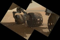 Nasa today revealed stunning new images of Curiosity's wheel on the martian surface taken using the high resolution Mahli camera, which had its dustcover removed for the first time