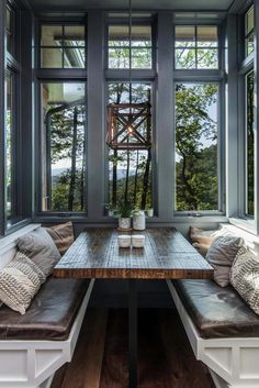 rustic-dining-room rustic house Inviting modern mountain home surrounded by forest in North Carolina Home Design, Home Interior Design, Design Ideas, Design Styles, Modern Interior, Dream House Design, Rustic House Design, Dream House Interior, Smart Design