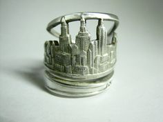 New York Sterling Silver Spoon Ring. So fun!