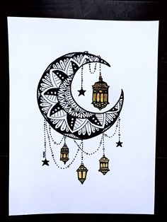 Excited to share the latest addition to my shop Crescent Moon Mandala Lantern Sharpie Art Pen Ink Drawing Framed Wall Art Sharpie Drawings, Sharpie Doodles, Ink Pen Drawings, Sharpie Art, Sharpie Projects, Flower Drawings, Moon Mandala, Mandala Doodle, Mandala Drawing